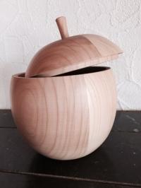 Apfel ausgehölt mit Deckel 25