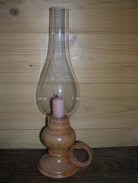 Tischlampe mit Kerze