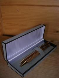 Minenstift und Drehkugelschreiber vergoldet