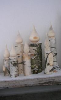 Kerze aus einem Stück